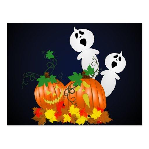 Halloween Pumpkin Patch Recipe Card Post Card