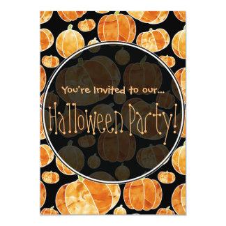 Halloween Pumpkin Pattern Double Sided Invitation
