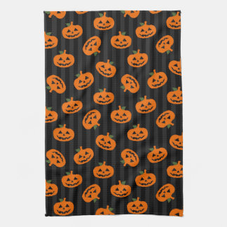 Halloween Pumpkin Pattern Kitchen Towel