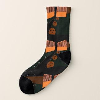halloween pumpkin phantom socks