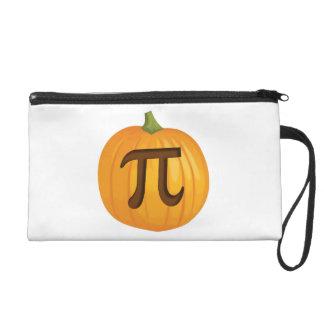 Halloween Pumpkin Pie Pi Wristlet Purse