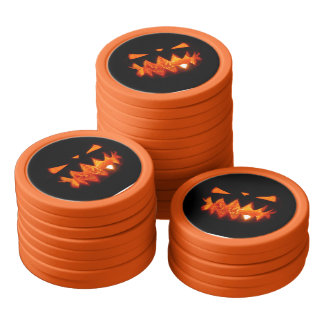 Halloween Pumpkin Poker Chips