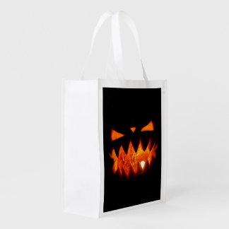 Halloween Pumpkin Reusable Grocery Bag
