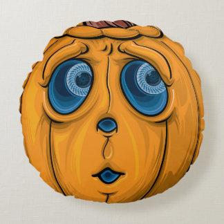 Halloween Pumpkin Round Pillow