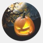 Halloween Pumpkin Round Sticker