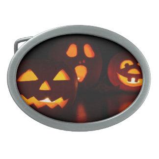 Halloween Pumpkin Scare Belt Buckle