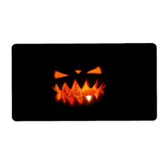 Halloween Pumpkin Shipping Label