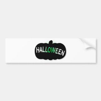 Halloween Pumpkin Silhouette Bumper Sticker