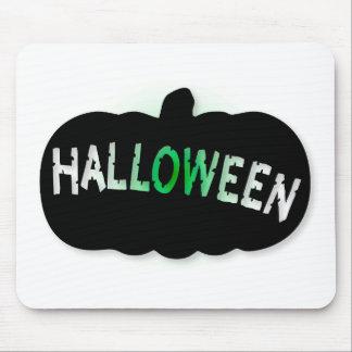 Halloween Pumpkin Silhouette Mouse Pad