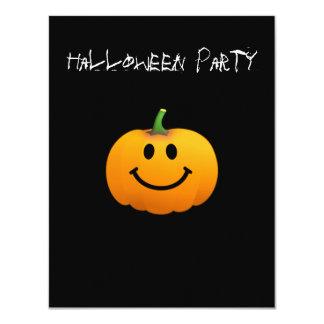Halloween Pumpkin Smiley face Invitation