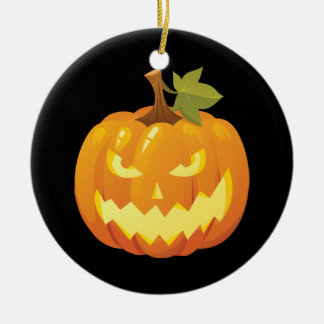 Halloween Pumpkin Smiley Ornament