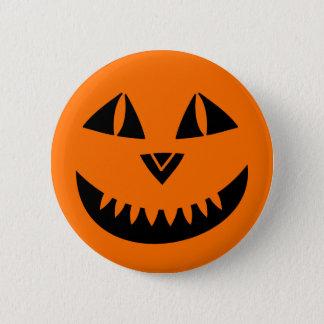 Halloween Pumpkin Smiling 2 Inch Round Button