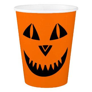 Halloween Pumpkin Smiling Paper Cup