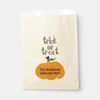 Halloween Pumpkin Trick or Treat Favour Bag