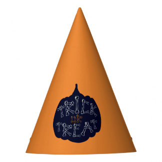 Halloween pumpkin trick or treat party hat