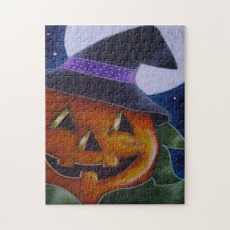 HALLOWEEN PUMPKIN with WITCH HAT Puzzle 252 Pieces