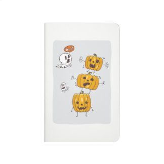 Halloween Pumpkins and Ghosts Pocket Journal