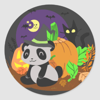 Halloween Pumpkins and Panda Stickers