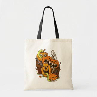 Halloween Pumpkins and Snakes Budget Tote