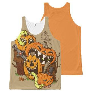 Halloween Pumpkins and Snakes Tank Top
