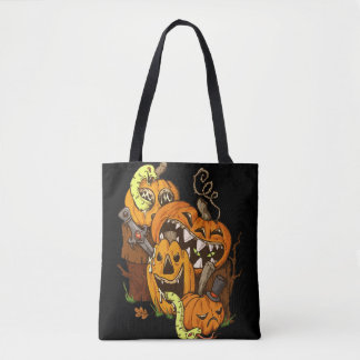 Halloween Pumpkins and Snakes Tote