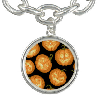 Halloween pumpkins charm bracelets