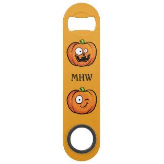 Halloween Pumpkins custom monogram bottle opener Bar Key
