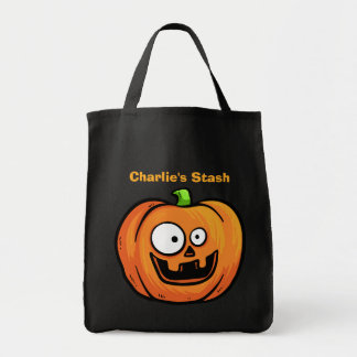 Halloween Pumpkins custom text tote bags