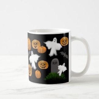 Halloween Pumpkins & Ghosts Mug