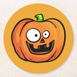 Halloween Pumpkins paper coasters 1