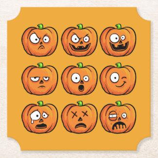 Halloween Pumpkins paper coasters 10