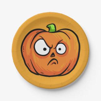Halloween Pumpkins paper plates 2