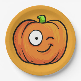 Halloween Pumpkins paper plates 6