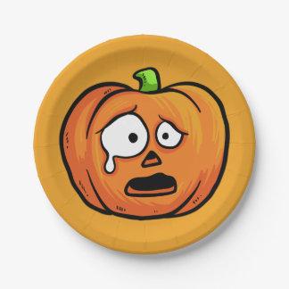Halloween Pumpkins paper plates 7