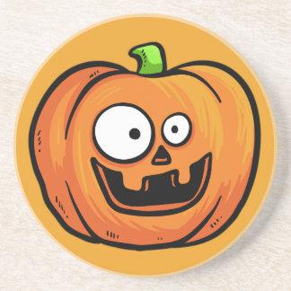 Halloween Pumpkins sandstone coaster 1 b