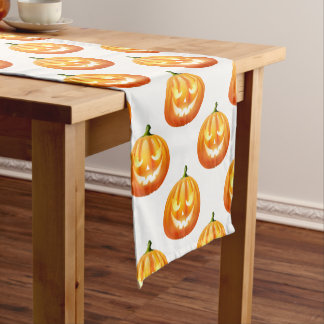 Halloween Pumpkins Table Runner