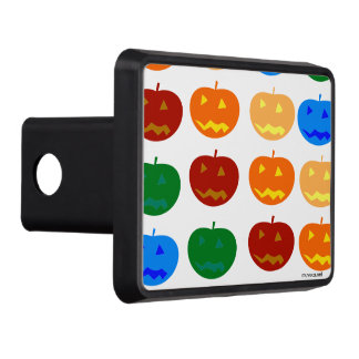 Halloween pumpkins trailer hitch cover