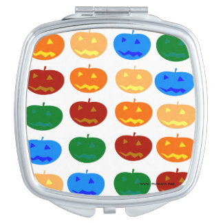 Halloween pumpkins travel mirror