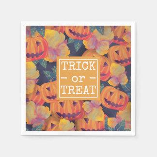 Halloween Pumpkins Trick or Treat | Napkin Disposable Napkin