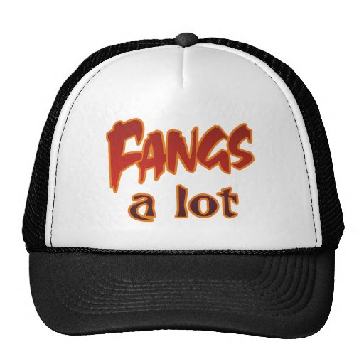 Halloween Punny Fangs Thanks A Lot Mesh Hats