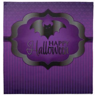 Halloween purple bat printed napkins
