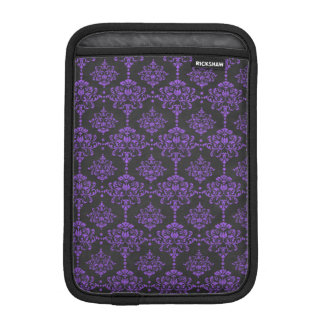 Halloween Purple Damask Chalkboard Pattern iPad Mini Sleeves