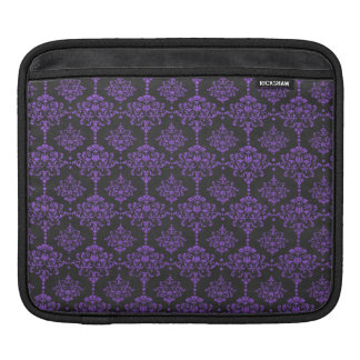 Halloween Purple Damask Chalkboard Pattern iPad Sleeves