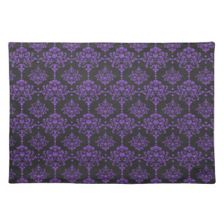 Halloween Purple Damask Chalkboard Pattern Placemat