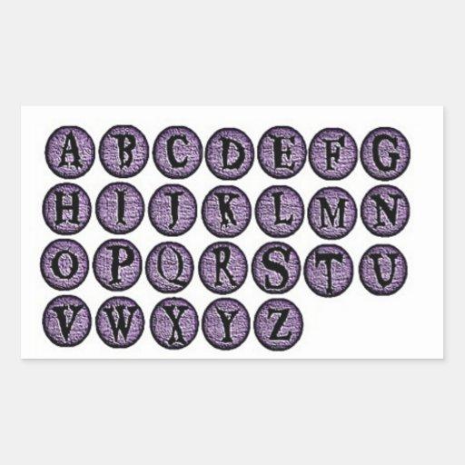Halloween Purple Letter Stickers