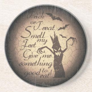 halloween quote beverage coaster