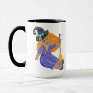 Halloween Ragdoll Witch mug