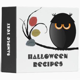 Halloween Recipes Binder