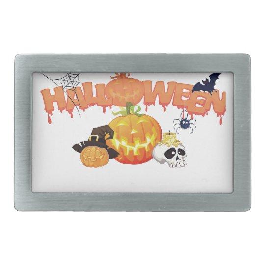 Halloween Rectangular Belt Buckles