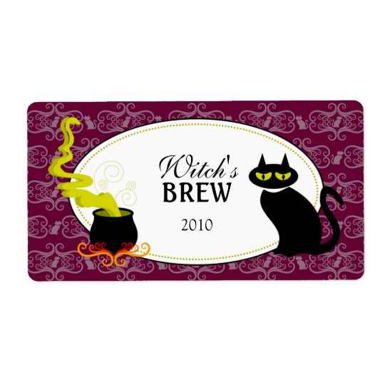 Halloween Red Wine / Glass Labels